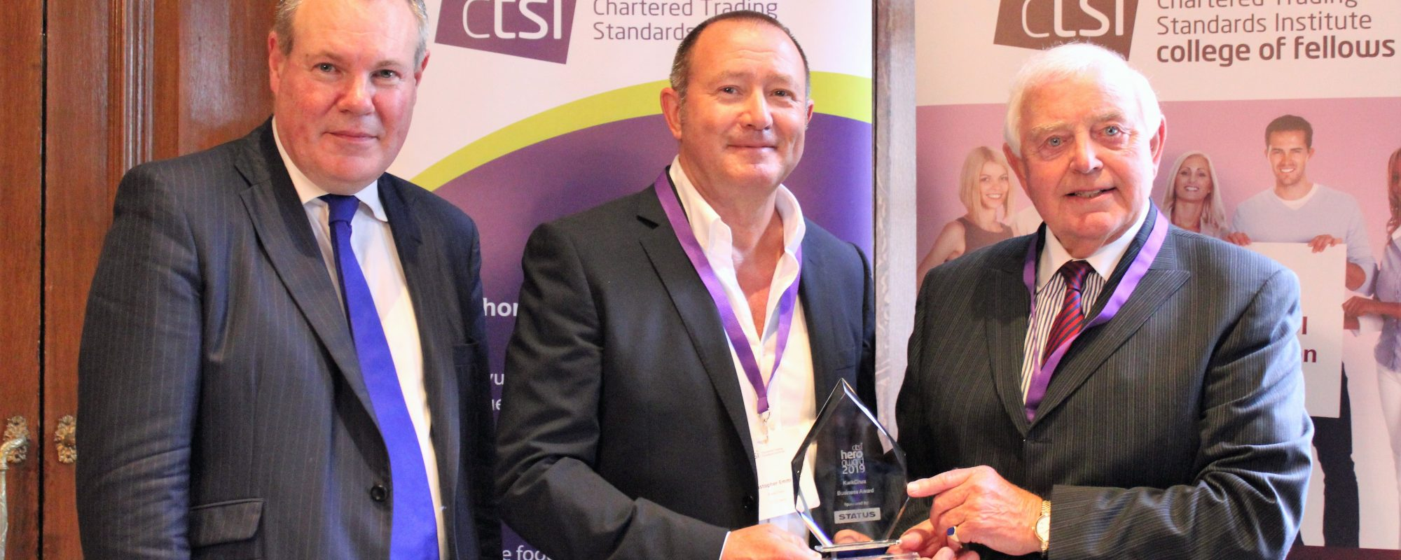 KwikChex receiving CTSI hero award