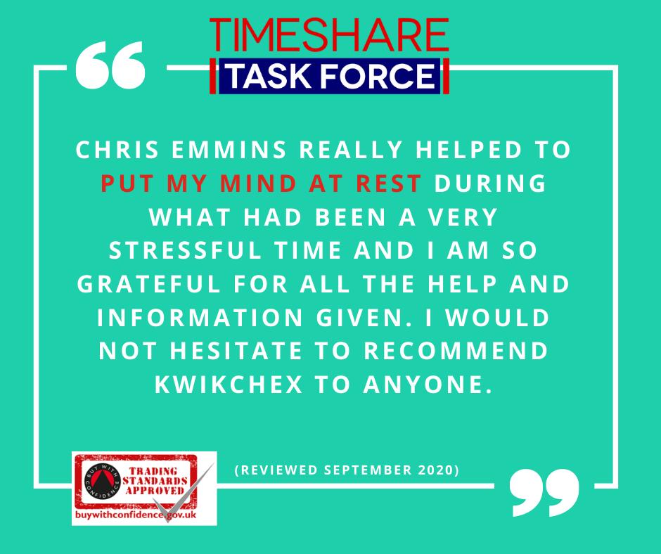 Chris Emmins hat mir wirklich geholfen, mich zu beruhigen