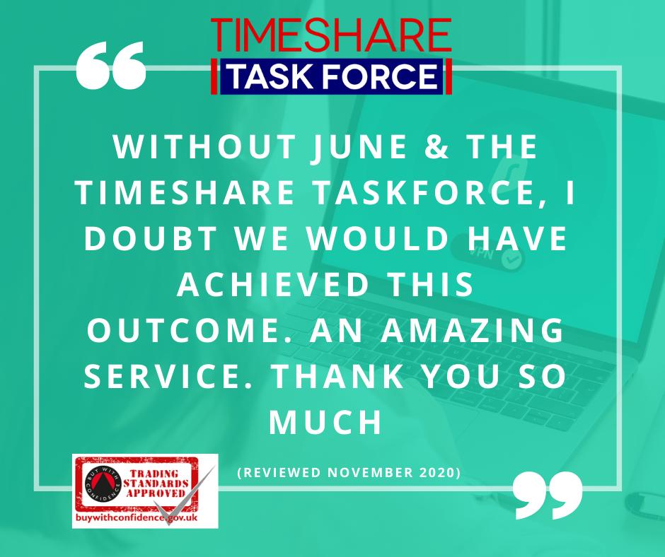 Die Timeshare Taskforce zu finden war genau das, was wir brauchten