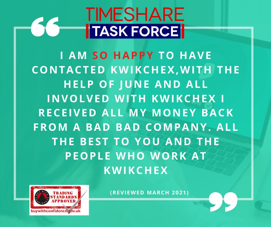 Ich bin so froh, dass ich KwikChex kontaktiert habe